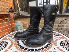 vintage dr martens motorcycle boots size 11 classic motorbike steel toe
