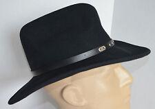 Eddy Bros Stormy Black Cowboy Hat Men M Crusable Lite 100% Wool Felt Western USA