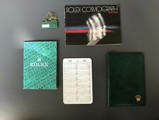 Rolex corredo Daytona 6263 6265 1982 tedesco booklet+calendar+tag+wallet+transla