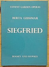 Siegfried by Berta Geissmer booklet/book Covent Garden Operas 1948 Boosey Hawkes