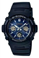 CASIO G-SHOCK MEN'S SOLAR POWERED RADIO CONTROL SPORT WATCH AWG-M100SB-2AER. NEW