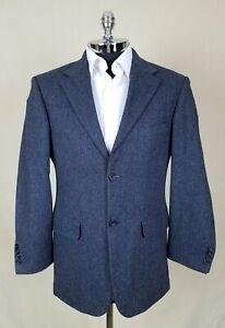 JOHN ASHFORD Mens LAMB & MERINO WOOL TWEED 2 Button Herringbone Sportcoat 38 R