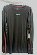Mens - Spalding Black Long Sleeve Tee with red trim - Size Xl Dri-power