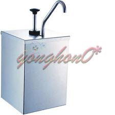 New 1 Bucket Sauce Dispenser Pump Squeeze Condiment Dispensing Stainless Steel