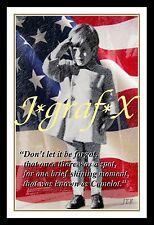 JOHN F. KENNEDY JR @ JFK FUNERAL 1963 - PORTRAIT POSTER - REALLY COOL ARTWORK!!!