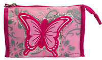 Kinder Kulturbeutel Kulturtasche Schmetterling rosa passend zum Trolley