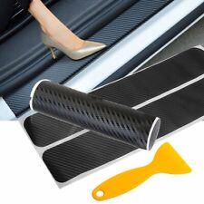 4x Carbon Fiber Car Door Plate Sill Scuff Cover Anti Scratch Sticker Protector