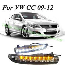 2x LED DRL Daytime Day Light w/ Turn Signal For VW Passat CC 2009-2012 Fog Light