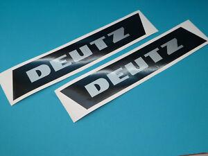 Deutz DX 06 07 Kabinenaufkleber Aufkleber Sticker Schriftzug Schwarz-Silber