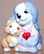 1989 New Hallmark Valentine Merry Miniature Dog And Kitten Never Used Qsm1515