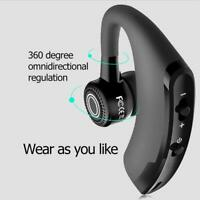 Wireless Bluetooth Single In-Ear Headset Business Car Handsfree Earbuds with Mic