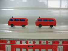 N324-0,5# 2x H0 Wiking Volkswagen VW Bully T2 Feuerwehr FW