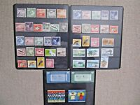 3 pages of Nauru stamps, mostly mint stamps, early lot, overprints, xmas 1976/80