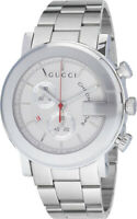 Gucci G-Chrono Chronograph White Dial Stainless Steel YA101339 Men's Watch