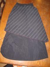 Cop-Copine - Jupe longue noire avec sur-jupe rayée grise et noir - M