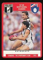 1991 Scanlens Stimorol Collingwood  Magpies No. 8 Scott Russell  Near MINT