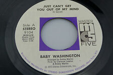 Baby Washington: Just Can't Get You Out of My Mind / You ....  [Unplayed Copy]