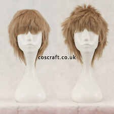 Short layered fluffy spikeable cosplay wig, sandy blonde, UK seller, Jack style