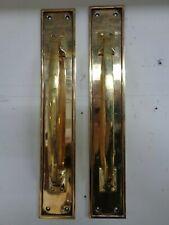 Art Deco Brass Door Handles (Pair)