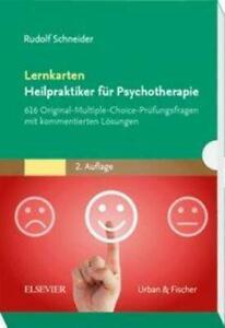 Lernkarten Heilpraktiker für Psychotherapie   Rudolf Schneider   Box   Deutsch