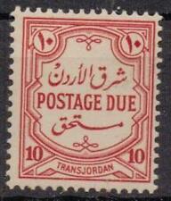 TRANSJORDAN SGD232 1942 10m SCARLET POSTAGE DUE MNH