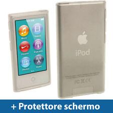 Trasparente Custodia TPU Gel per Apple iPod Nano 7 Gen Generazione 7G Case Clear