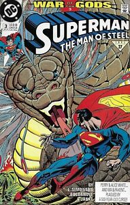 Superman Comic 3 Man Of Steel Copper Age First Print 1991 Simonson Janke DC