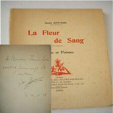 LA FLEUR DE SANG  André Antonin  Sonnets & Poèmes avec  envoi !