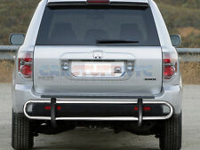 2003-2008 Honda Pilot Stainless Double Tube Rear Bumper Guard Shield Cover Grill