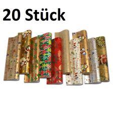 20 Rollen Weihnachtspapier Gold 10 Motive Geschenkpapier 2m X 0 70m Weihnachten