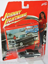 American Beauties - 1957 CHEVY BEL AIR - black - 1:64 RARE White Lightning