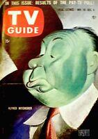 TV Guide 1957 Alfred Hitchcock #244 Albert Hirschfeld Lucille Ball Zorro EX COA