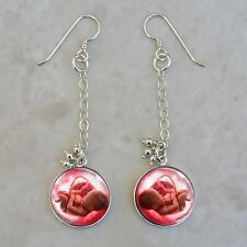 Baby Fetus in the Womb Medical Science .925 Sterling Silver Earrings