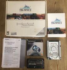Final Fantasy XI Online Playstation 2 Ps2 HDD Hard Disc Drive Bundle Adapter !