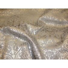 Vinyl faux leather Upholstery Silver Parisian Embossed Damask Vinyl fabric yard