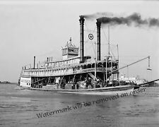Historical Photograph of the Paddle Wheel Steamship Jas T. Staples 1910c  8x10