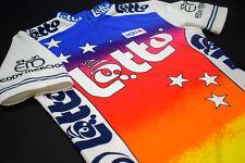Lotto Agu Trikot Rad Bike Jersey Maillot Camiseta Maglia Shirt Rainbow Merckx  S