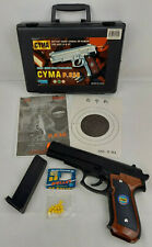 New listing Vintage 1999-2000 Detrusion Cyma P.638 Airsoft Plastic Pistol Sport Gun w/ Case