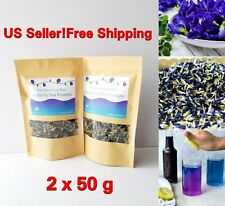 Tea Dried Butterfly Pea Blue Natural Pure Thai Flowers Organic Flower 2 x 50g