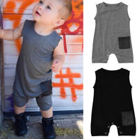 Infant Toddler Kids Baby Boys Summer Romper Sleeveless Jumpsuit Clothing Outfit