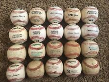 20 Used Baseballs, Mixed Lot Leather baseballs and synthetic Batting practice Bp