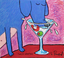 "MATT RINARD ""DIRTY MARTINI"" Hand Signed Limited Edition Art Lithograph"
