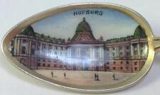 Vintage 800 Silver & Enamel Vienna (Hofburg Palace)  Picture Bowl Souvenir Spoon