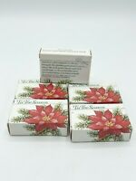 "Vintage 1985 RARE AVON SCENTED SOAP 'Tis The Season Poinsettia 2.25"" Christmas"