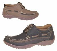 Mens Lace Up Casual Shoes Deck Loafers Walking Comfort Driving Winter Boots Size