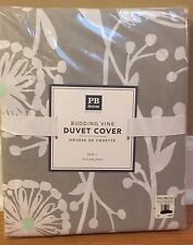 NEW Pottery Barn Teen Dorm Budding Vine TWIN Duvet GRAY MINT