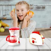 Kids Toy Coffee Maker Machine Toaster Kitchen Set pretend play