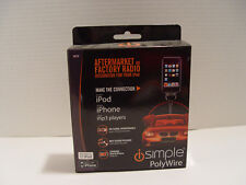 NEW iSIMPLE IS75 POLYWIRE CAR RADIO RCA AUDIO CONNECTOR CABLE FOR APPLE IPHONE