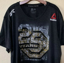 Reebok Gray UFC 230 25th Anniversary Posters Jersey Size 2XL