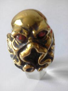 bronze cthulhu ring red opal custom sized HP Lovecraft mythology creature R-96b